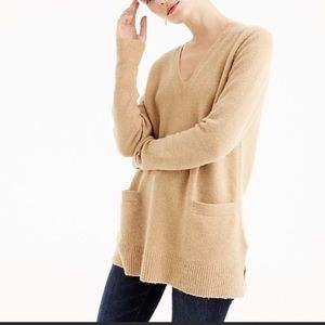 ⭐️ J. Crew V- Neck Front Pocket Tunic Sweater XS